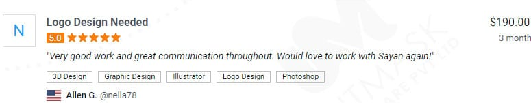 logo designer positive reviews freelancer